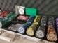 Покерный набор PokerStars 500 фишек, 2 колоды пластиковых  карт в кейсе 2