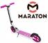 Самокат Maraton Fox Pro Розовый + LED-фонарик 2