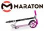 Самокат Maraton Fox Pro Розовый + LED-фонарик 3