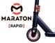 Самокат для трюков Maraton Rapid Черно-оранжевый + Пеги 2шт (2021)  1