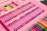 Набор для рисования Art Set с мольбертом в чемоданчике (176 предметов) Розовый 7