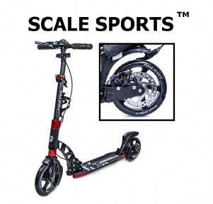Самокат Scale Sports D-Max-230 Disc Черный Дисковый тормоз USA