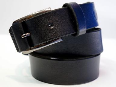 Ремень кожаный KHARCHUK Chrome 4-35  черный