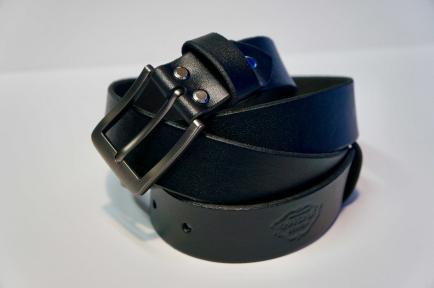 Ремень кожаный KHARCHUK Chrome 2-35   черный