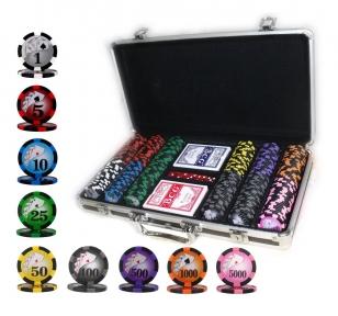 Набор для игры в покер с номиналом 300 фишек, 2 колоды карт в Кейсе