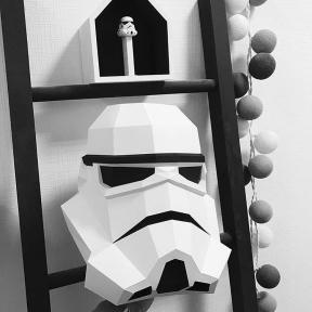 Бумажная модель 3Decor Papercraft Голова Star Wars (14)