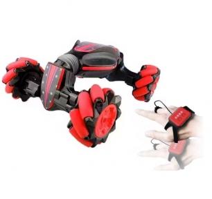 Машинка с управлением жестом руки Stunt Car перевертыш + пульт, Красная