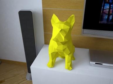 Бумажная модель 3Decor Papercraft Французский Бульдог (51)