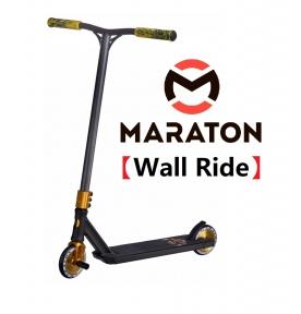 Трюковый самокат Maraton Wall Ride Golden wheel Золото