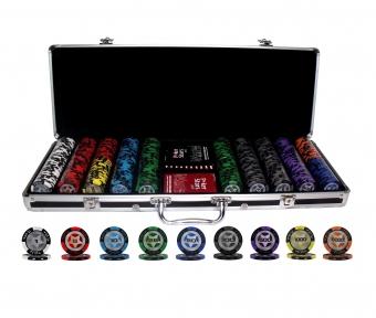 Покерный набор PokerStars 500 фишек, 2 колоды пластиковых  карт в кейсе