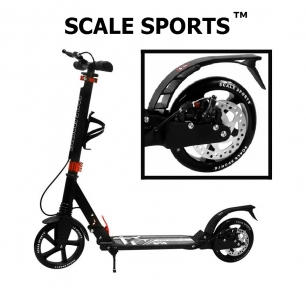 Самокат Scale Sports Elite Plus (ss-04) Черный