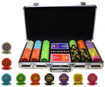 Набор для покер Compass номиналом 300 фишек, пластиковые карты в кейсе