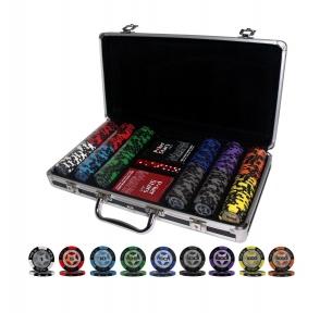 Покерный набор PokerStars 300 фишек, 2 колоды пластиковых  карт в кейсе