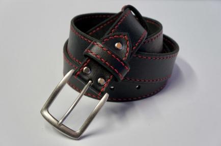 Ремень кожаный KHARCHUK Chrome TR1-40  Черный