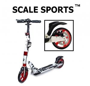 Самокат Scale Sports D-Max-230 Disc Белый Дисковый тормоз USA