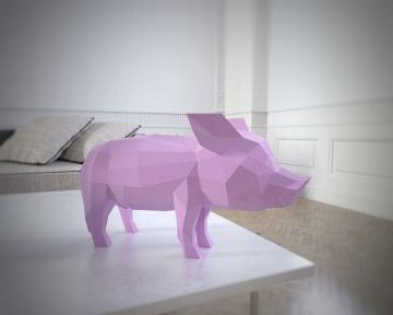Бумажная модель 3Decor Papercraft Свинья (52)