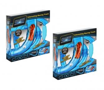 Набор 2в1 Гонки в трубе 54 детали Chariots Speed Pipes (длина 420 см)