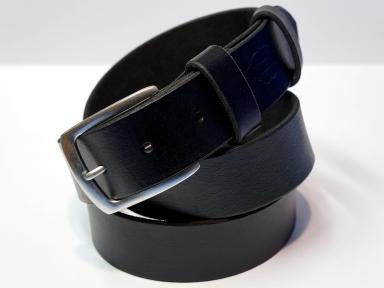 Ремень кожаный KHARCHUK Chrome 1-40  черный