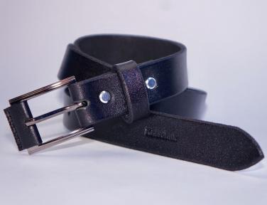 Женский кожаный ремень KHARCHUK Chrome 6-30 Черный