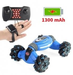 Машинка Stunt Car с управлением от руки + пульт Синяя (RQ2071)
