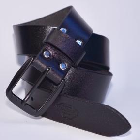 Мужской кожаный ремень KHARCHUK Chrome 10-40 Черный