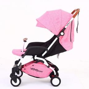 Детская коляска YOYA care 2018 Розовая белая/черная рама