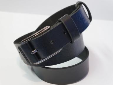 Ремень кожаный KHARCHUK Chrome 3-40  черный
