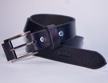 Мужской кожаный ремень KHARCHUK Chrome 6-30 Черный