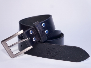 Женский кожаный ремень KHARCHUK Chrome 9-35 Черный