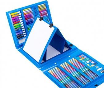 Набор для рисования Art Set с мольбертом в чемоданчике (176 предметов) Голубой