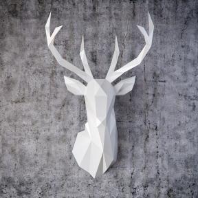 Бумажная модель 3Decor Papercraft Голова Оленя (93)