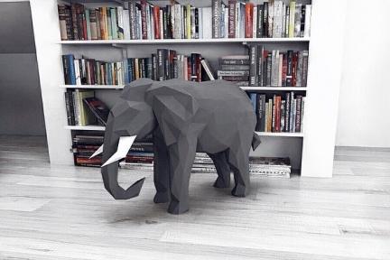 Бумажная модель 3Decor Papercraft Слон (53)