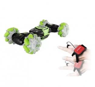 Машинка Stunt Car RC управления рукой + пульт, Зеленая