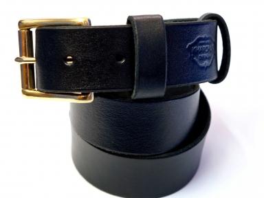 Ремень кожаный KHARCHUK Brass 6-40  черный