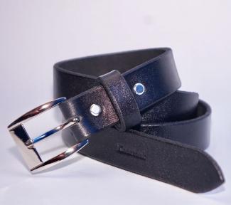 Мужской кожаный ремень KHARCHUK Chrome 5-30 Черный