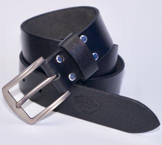 Мужской кожаный ремень KHARCHUK Chrome 11-40 Черный