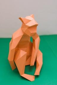 Бумажная модель 3Decor Papercraft Обезьяна (46)