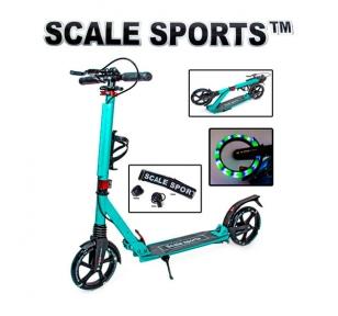 Самокат Scale Sports SS-20 LED Бирюзовый (светящиеся колеса)