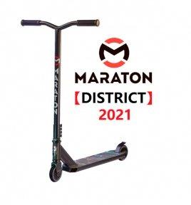 Трюковой самокат Maraton DISTRICT Черный Mortal Combat (2021)