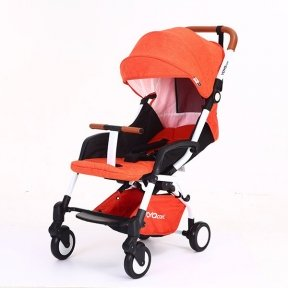 Детская коляска YOYA care 2018 Оранжевая белая/черная рама