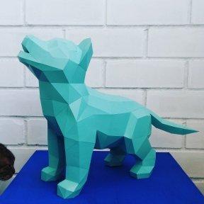 Бумажная модель 3Decor Papercraft Собака Хаски щенок (90)