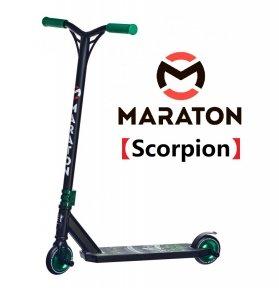 Самокат для трюков Maraton Scorpion зеленый (2021) + Пеги 2шт