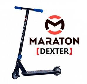 Трюковый самокат Maraton DEXTER Синий  (2021) + Пеги 2 шт