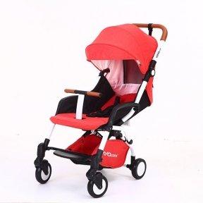 Детская коляска YOYA care 2018 Красная белая/черная рама