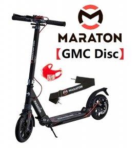 Самокат Maraton GMC Disc (2021) + LED-фонарик Серый