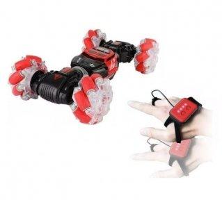 Машинка Stunt Car RC управления рукой + пульт, Красная