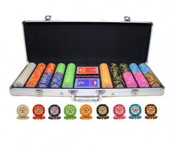 Покерный набор Texas Holdem Poker 500 фишек в Кейсе