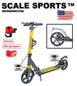Самокат Scale Sports Elite Plus (ss-04) Желто-Серый 2021