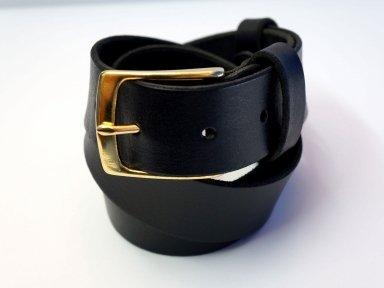 Ремень кожаный KHARCHUK Brass 5-40  черный