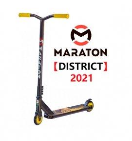 Трюковой самокат Maraton DISTRICT Желтый Колесо (2021)